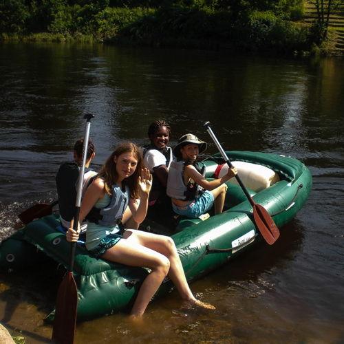 Bild zum Weblog Schullager HS Tag 3: Bootfahren auf der Moldau